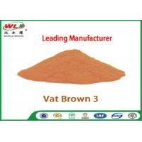 Quality Eco Friendly Fabric Dye C I Vat Brown 3 Brown RN Dyeing Of Cotton Fabric wholesale