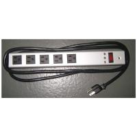 Quality Horizontal Surge Protector Power Strip 5 Outlet , Universal Electrical Power Bar wholesale