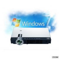 China DLP Led Mini Projector 3D portable size with battery built-in, 2000Lumens on sale