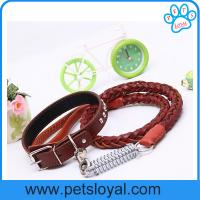 China Hot Sale Leather Dog Leash Collar China Factory Wholesale on sale
