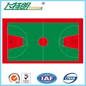 China All Weather Polyurethaning Floors Anti - Slip Floor Paint Gym Sports Flooring on sale