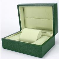 China Green Paper Watch Box / Jewelry Wooden Box Packaging Eco-friendly on sale
