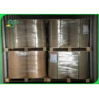 China Width 240 - 500mm Good Stiffness Stable Thickness 50gsm FDA Kraft Paper In Roll on sale