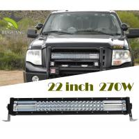 Quality 3 Row 270W 22Inch 12v Waterproof IP68 jeep  Led Light Bar  RoHS Flood Spot Beam Combo Beam wholesale