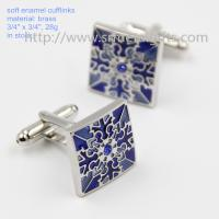 Quality Exquisite soft enamel mens fashion cufflinks in stock, China factory cufflinks for sale, wholesale