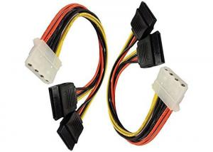China 4 Pin IDE Female Molex to Dual SATA Power Y Adapter Cable on sale