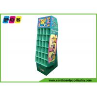 Quality Promotional Cardboard Pop Displays With Small Pocket Cells And Base Stand POC037 wholesale