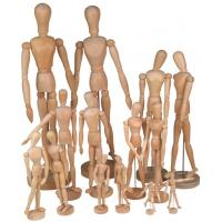 Quality Full Size Wooden Human Mannequin / Figure , Wooden Drawing Doll For School wholesale
