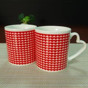 China I Love You heat sensitive color changing mugs heart shape handle on sale
