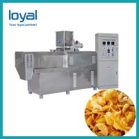China Full Automatic Breakfast Cereal Making Machine Corn Flakes Bulking Production Equipment on sale