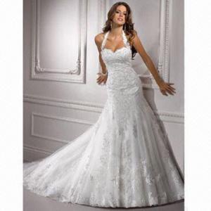 Quality 2012 Halter Lace Wedding Dress/Bridal Gown wholesale