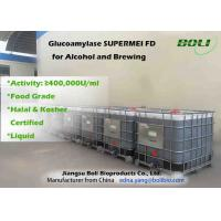 Quality Food Grade Liquid Glucoamylase Enzyme 400000 U / ml For Alcohol And Brewing wholesale