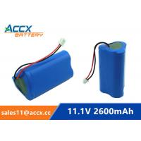Cheap 18650 11.1V 2600mAh li-ion battery pack with pcm protection for sale