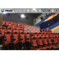 Quality 1 Seat 2 Seats Simulation Rides Movie Theater System 4D With Arc / Flat Screen wholesale