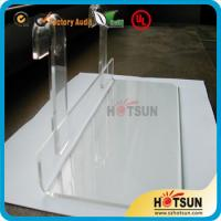 Quality Lucite shoe racks for sale, shoe store retail acrylic display rack, clear shoe racks for store wholesale