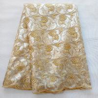 Quality 120-130cm Factory price wholesale shinny African lace sequin embroidery fabrics wholesale