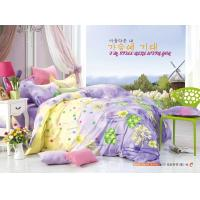Quality King Size / Twin Size Four Piece Cotton Bedding Sets Reactive Printing wholesale