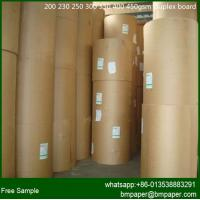China 230gsm Single Side White Coated Grey Back Duplex paper Board on sale