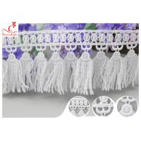 Quality French Venice Guipure Tassels Fringe Polyester Lace Trim For Clothing Decorative wholesale