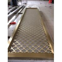 Quality Colored Metal Laser Cut Panels stainless steel partitions  For Sunshades Louver Window Screen 201 304 316 wholesale