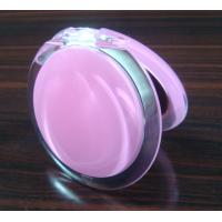 China Plastic round 10X magnifying makeup pocket mirror with various colors on sale