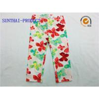 Quality Comfortable Cute Baby Girl Leggings Water Ink All Over Printed For Spring / Summer wholesale