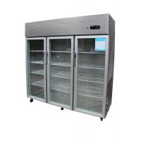 China Economical Vertical Three Door Commercial Refrigerator Freezer R134a on sale