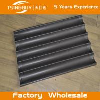 Factory wholesale bread baking aluminum sheet-non-stick baguette tray- french baguettes baking tray