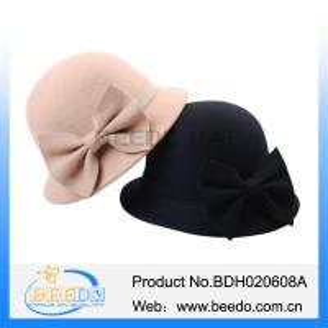 Quality Wool felt camel ladies dress hats cloche hats wholesale wholesale
