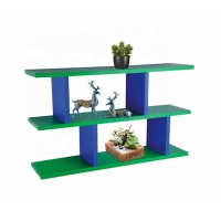 China Movable Green 38cm Height Diy Floating Book Shelves Wall Mounted on sale