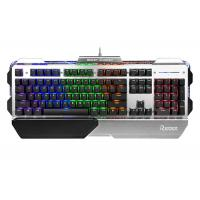 Quality 104 Keys USB Wired Gaming Keyboard Colorful Backlit Metal Panel With Palm-rest wholesale