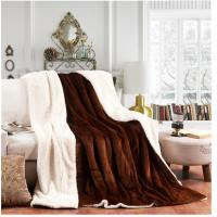 Cheap Warm Double Layer Velvet Sherpa Blanket For Bed / Sofa , Micro Mink Sherpa Blanket for sale