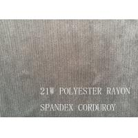 Buy cheap 90%P 8%N 2%SP 21W POLYESTER RAYON SPANDEX CORDUROY FOR COAT from wholesalers