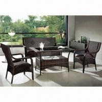 Quality Outdoor Furniture with 1.2mm Aluminum Tube, UV-resistant Rattan and Waterproof Fabric wholesale