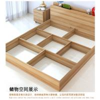 Cheap Low Price Modern minimalist type 1.2 meters 1.5 meters 1.8 meters double bed containing Japanese tatami bed storage. for sale