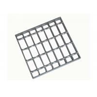Hot Dipped Galvanized Serrated Bar Grating Stair Treads Q235 European Standard