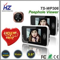 China remote unlocking 3.5''touch screen high resolution 2.4GHz wireless door viewer peephole on sale
