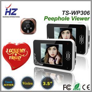 remote unlocking 3.5''touch screen high resolution 2.4GHz wireless door viewer peephole