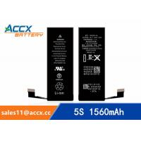 Quality ACCX brand new high quality li-polymer internal mobile phone battery for IPhone 5S with high capacity of 1560mAh 3.8V wholesale