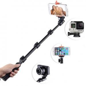 Quality Aluminium Alloy Monopod Selfie Stick , Extendable Self Portrait Selfie Handheld Stick wholesale