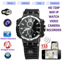 Quality Y33 8GB 720P WIFI IP Spy Watch Camera Home Security Smart  Remote CCTV Video Monitor IR Night Vision Nanny Baby Monitor wholesale