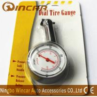 Quality Plastic Body Digital Tire Air Pressure Gauge , Tire Gauge With Blister Card wholesale