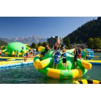 Cheap Durable 0.9mm PVC Tarpaulin Giant Inflatable Water Park With Tower And Slide for sale