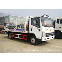 Quality FAW 3 Ton Road Wrecker Tow Truck / Transporter Recovery Truck With Crane EURO 5 wholesale