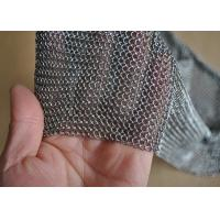 Quality 3.81mm Ring Dia 304L Stainless Steel Chainmail Scrubber Welded Length Customized wholesale