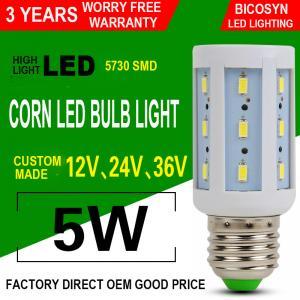 China 5W LED Corn COB Bulb E26 E27 5730 SMD LED Lamp Bulb (40w Incandescent Bulbs Equivalent), 360° Lighting, Non-Dimmable on sale