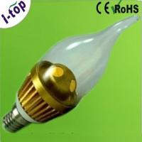 Quality Warm White High Power Tear Shape Candle Tip Replacement Dimmable LED Light Bulbs E14 3w wholesale