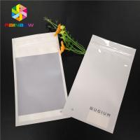 China Matte White Plastic Pouches Pack Smell Proof Heat Seal Mylar Earphone Ring Decoration Packing on sale