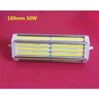 Quality Dimmable 50W 189mm COB led R7S bulb lamp No noise with cooling Fan good heat dissipation replace 500W halogen lamp wholesale