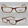 Buy cheap Orange / Black Rectangular Retro Acetate Eyeglasses Frames With Lightweight from wholesalers